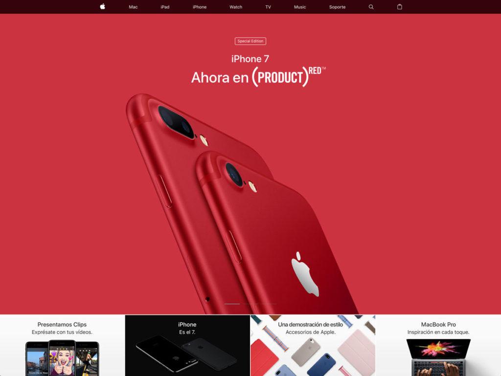 web corporativa apple